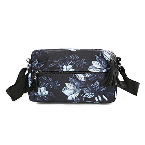 2017 Borse donna,Kangrunmy®Moda borsa Nylon fiori floreale borsa a tracolla grande Tote borsa delle signore D