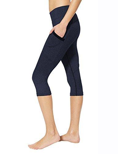 Baleaf Women's Yoga Workout Capris Leggings Side Pocket for 5.5