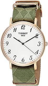 Tissot Mens Quartz Watch, Analog Display and Textile Strap T109.610.38.1632.36