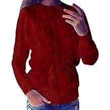 ZANZEA Mujer Jersey Suéter Invierno Crochet Elegante Mangas Largas Moda Oficina Casual Deporte