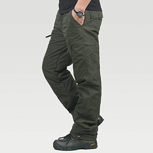 QZHE Pantalon imperméable pour Les Hommes, La Pêche en Plein Air en Plein Air, Le Camping, Les Pantalons Longs Thermiques en Coton Isolant Thermique Épaississent Les Pantalons Tactiques Chauds
