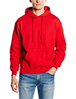 Fruit Of The Loom Men's SS026M Long Sleeve Hoodie, Red, Small