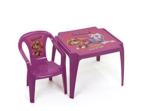 Pat' Patrouille PW11138 Table monoblock en Plastique sous Licence La pat'patrouille Girl 50x55x44cm, Rose, 50 x 55 x 44 cm