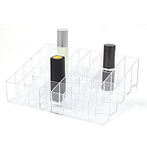 Rouge à lèvres de rangement Bureau trapèze transparent 40 grilles acrylique vernis à ongles polonais organiser cas Gloss Holder étui de maquillage de stockage de beauté conteneur