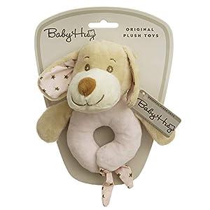 Adora 9876 Little Puppy Rattle - Peluche de Peluche, Color Rosa, 15 cm