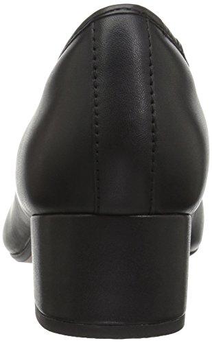 Clarks, Sneaker donna Black Leather