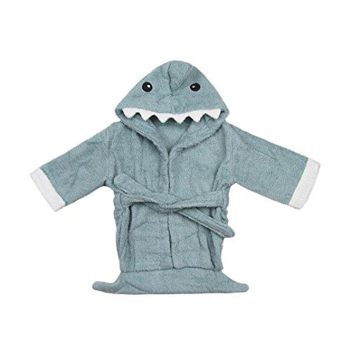 ☻Huhu833 Baby Bademantel Junge Mädchen Samt Robe Cartoon Handtuch Pyjamas Kleid Kleidung (0-24M) (A) (Samt Baby Kleid)