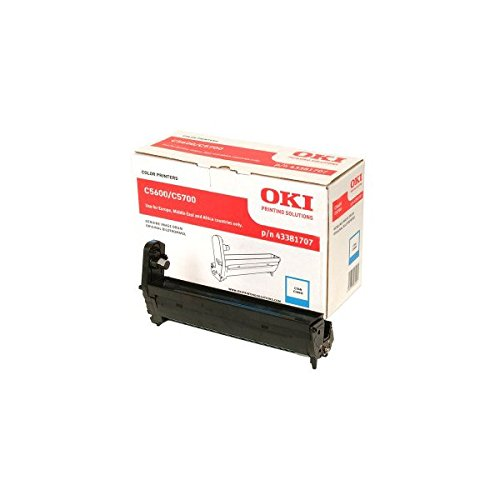 OKI Trommel für C5600/C5700 Drucker Kapazität 20,000 Seiten, cyan