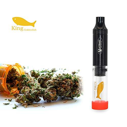 Glass Blunt, Atman King Goldenfish Tabak / trockenes Kraut Smoking Pipe, mit hitzebeständigem Quarz Rohr portable abnehmbare Rohr, kein Nikotin