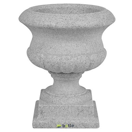 Pflanzpokal Amphore Pflanzgefäß Vase Schale Deko grau rund D 28 cm Kunststoff