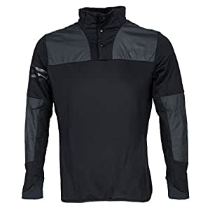 Adidas 2015 Climaheat Hybrid Shell Button Up Sweatshirt Mens Golf Cover-Up Black XL