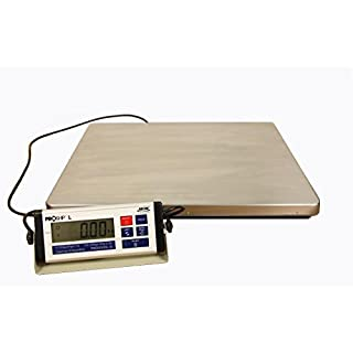 ABCON PROSHIP VERY LARGE 56x46cm Digital 300Kg / 660lb from 50g / 0.1lb Increments Heavy Duty Industrial Postal Postage Parcel Packet Shipping Platform Warehouse Vet Scales Scale - UNIQUE FEATURES - DYNAMIC WEIGHING - USB OUTPUT - DETACHABLE DISPLAY