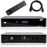 AX HD60 4K UHD 2160p E2 Linux 1xDVB-S2X Sat Receiver inkl. HDMI Kabel [vorprogrammiert für Astra & Hotbird]