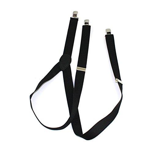 Bretelle Unisex a forma di Y con 3-Clips di colore nero regolabili ca. 50 - 85 cm Marchio MyBeautyworld24