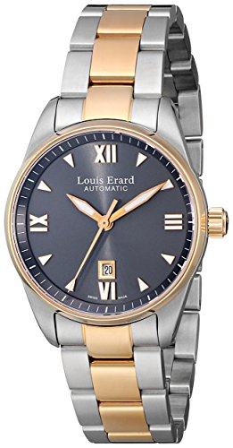 Louis Erard Women's 20100AB23.BMA20 Heritage Automatic Grey Dial Steel and Rose Gold PVD Watch
