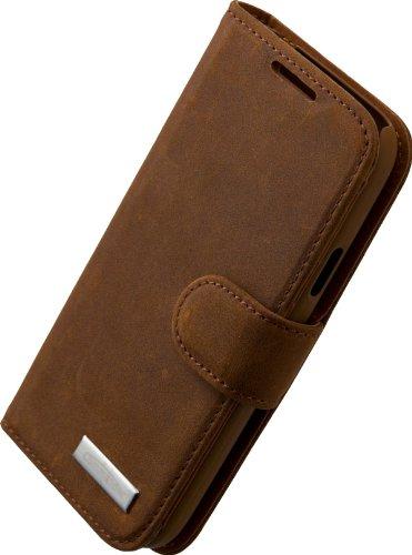 Commander 13824 Vintage Book Case für Samsung i9190 Galaxy S4 Mini braun