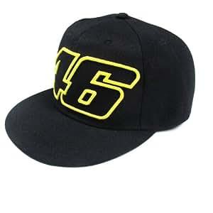 Cap de Baseball noir officielle Valentino Rossi Flat Peak 46 VR/46