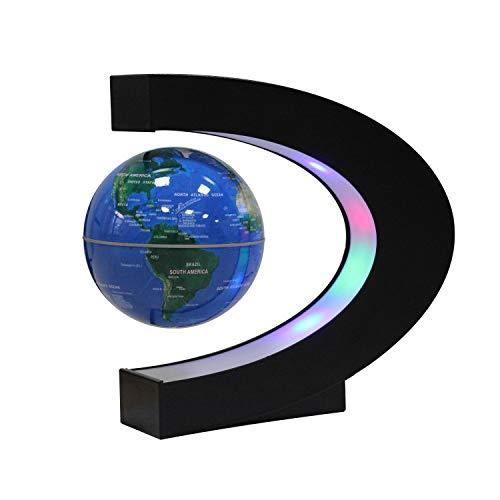 Ardermu Magnetschwebebahn Floating Globe mit C-Form - Globe Weltkarte zum Lernen Geschenk Home Office Classroom Desk Dekoration (Weltkarte Desk)