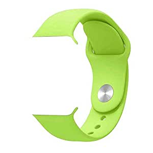 ikazen Band 42mm Silicone Strap for Apple Watch iWatch 42 mm (Watch not included) - Green