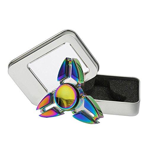 Fidget Spinner juguete dedo alivia su ansiedad aburrimiento reductor de estrés para niños adultos (Color de la aleación)
