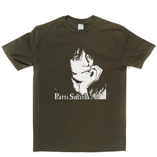Patti Smith American Poet Punk Rock 1975 T-shirt Militärgrün