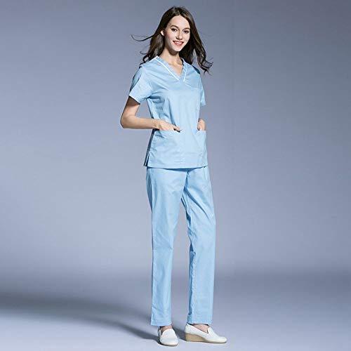 QZHE Medical uniform Medizinische Kleidung Chirurgische Kleidung Anzug Medizinische Kosmetische Plastische Chirurgie Krankenschwester Service Anzug, XXL