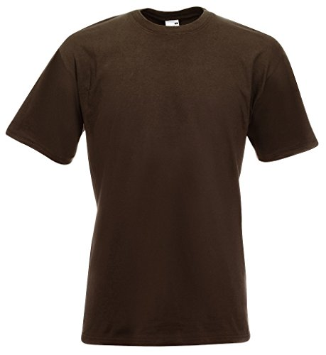 Fruit of the Loom Herren, Regular Fit, T-Shirt, Premium Tee Single Chocolate