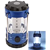 niceEshop(TM) 12 LED Portable Camping Camp Lantern Light Lamp with Compass-Blue