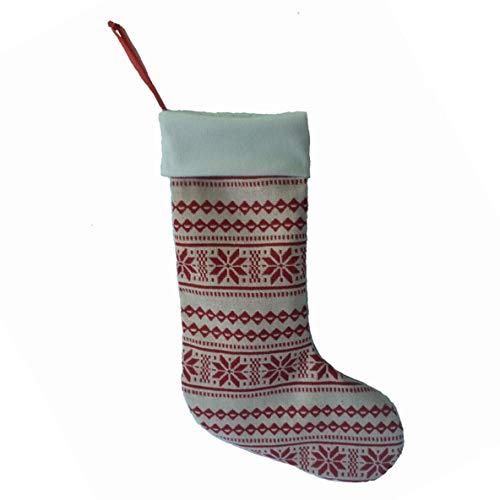 Noradtjcca Printed Linen Christmas Socks Weihnachtsschmuck Gold Velvet Geschenktüten Apple Bag Beautiful Mies