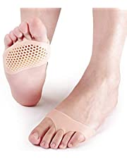 Jini Collection® Soft Silicon Gel Half Toe Sleeve Forefoot Pads For Pain Relief heel front socks silicone gel socks