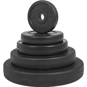 GORILLA SPORTS® Hantelscheiben Set/Einzeln Kunststoff – 1,25-15 kg Gewichte mit 30/31 mm Bohrung