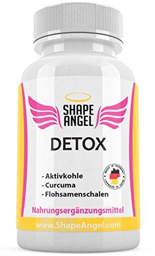 Detox Kapseln – Entgiftung und Darmreinigung – Schnell Abnehmen – Speziell Für Frauen – Vegetarisch und Vegan – Von Shape Angel