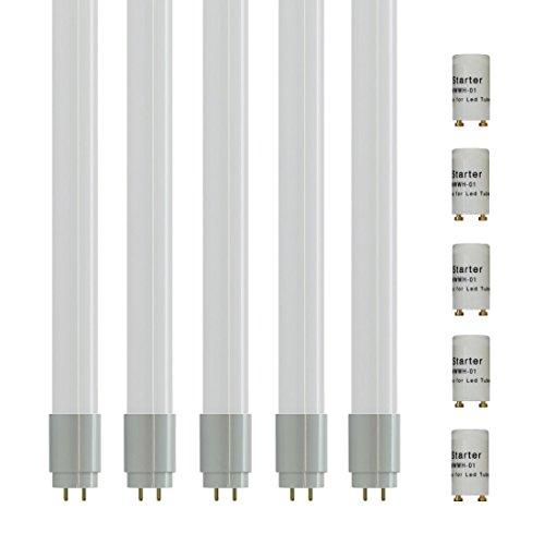 5 piezas - 61024 - Zone LED - Tubo led 150cm - T8 casquillo G13 - 22W (equivalente a 58W tubo de gas) - Luz Blanco Frío 6000K - Flujo luminoso 2000lm - Ángulo de haz 180° - Procesamiento de color (IRC > 80)