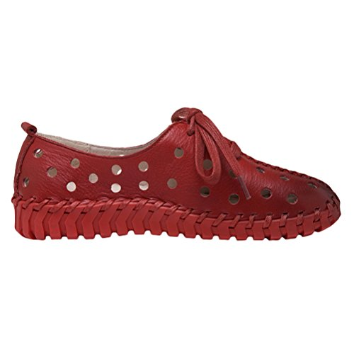 Vogstyle Femmes Chaussures Spring Pure Color Loisirs Flat Art 3 Rot