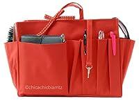 Handbag Organiser - Handbag Insert - Bag Organiser - L Red - Width 9.4