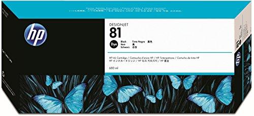 HP N°81 Cartouche d'encre d'origine Noir C4930A