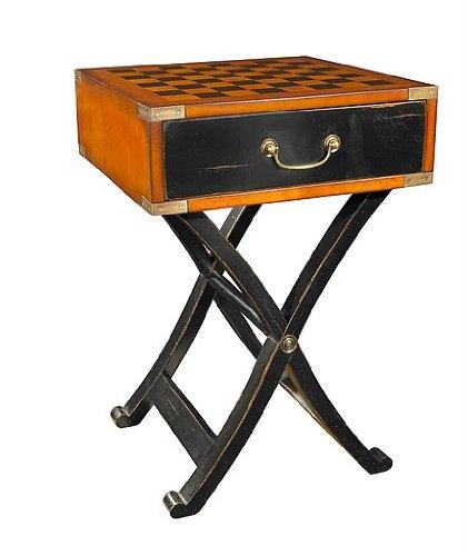 Authentic Models - Spieltisch, Beistelltisch, Schachspiel - mit Intarsien - feinste Hölzer - MF112