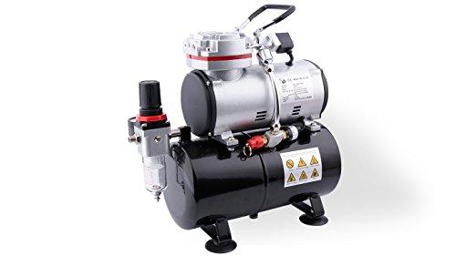Fengda AS-189 Airbrush Mini Kompressor mit Lufttank/Druckbehälter/ 6 bar / Auto Stop