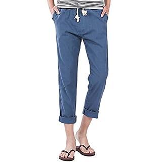 Aiserkly Männer Casual Slim Strandhosen Leinen Hose Hose Hose Blau XL