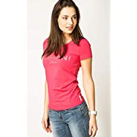 Armani Jeans Pink Cotton Round Neck T-Shirt For Women