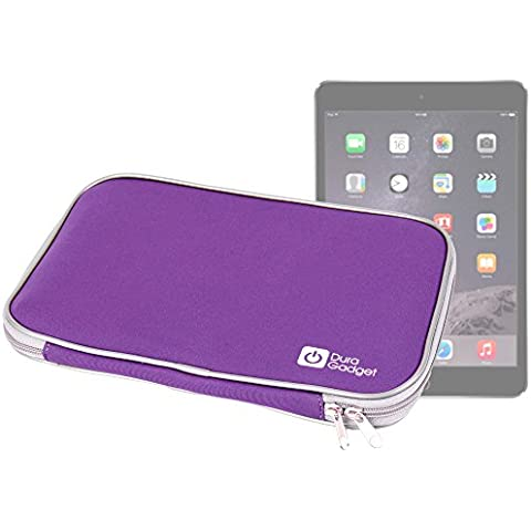 DURAGADGET Funda Morada De Neopreno Para Apple iPad Air 2 ( Wi-Fi, Wi-Fi + Cellular ) - ¡Resistente Al Agua!