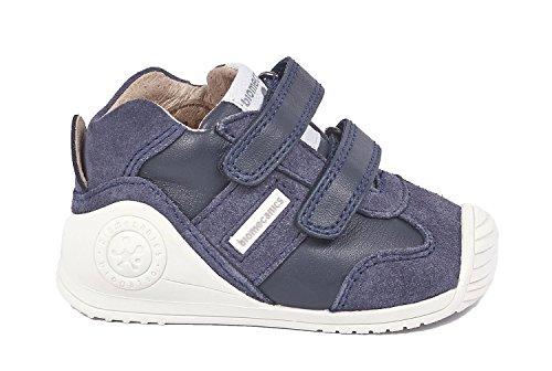 Biomecanics 171151, Zapatillas de Estar por casa para Bebés 171151/A/Amz Azul Marino Y Vaquero (Sauvage Y Serraje), 20 EU
