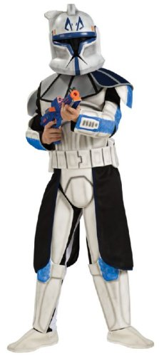 Star Wars Deluxe Kinder Kostüm Clonetrooper Captain Rex Größe L 8 bi 10 (Rex Captain Wars Kostüm Clone)