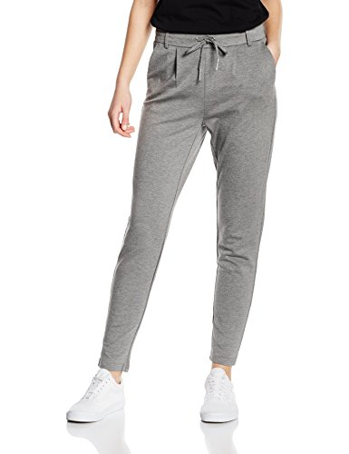 ONLY Damen Hose Onlpoptrash Easy Colour Pant Pnt Noos, Grau (Medium Grey Melange), 38/L34 (Herstellergröße: M)