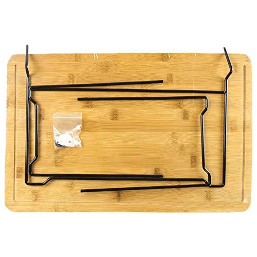 Ridecle Große Bambus Schneidebrett mit Tabletts Holz Metzger Block Schneidebrett Aufbewahrungsbox Küche Werkzeugset für Fleisch Gemüse Brot Obst -