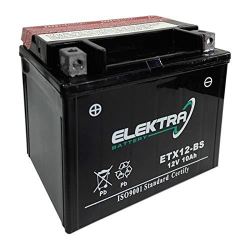 Batteria sigillata Elektra ETX12-BS (YTX12-BS) 12 V 10 Ah 180 CCA acido incluso