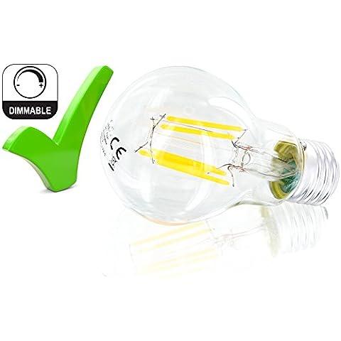 6W dimmerabile E27A60Lampadina LED Filament 360°–540LM–Vintage pera–bianco