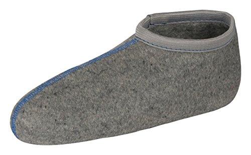 Tobeni 2 Paar Stiefelsocken Einziehsocken sogenannte Rosshaarsocken für Damen Herren und Kinder Farbe Grau Grösse 27-28