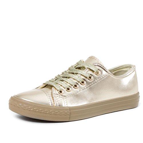 Clássicas Mulheres Unissex Homens Sapatos Baixos Tênis De Cano Alto Da Sapatilha Ouro Metálico