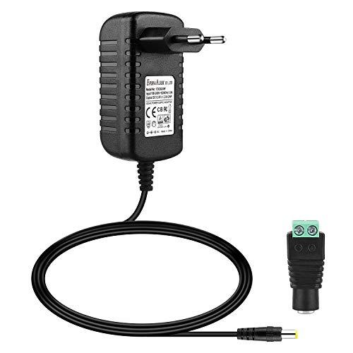 EFISH DC-Netzteil 12V 2A,AC 100-240V bis DC 12V Netzkabel tragbares Ladegerät für LED-Streifen,Fischbecken,Radiowecker,Scanner,Schalter,Router,Lautsprecher,T-Com,Speedport,CE/GS Zulassung